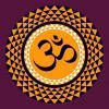 OM in the thousand petal lotus; a sacred symbol in Hinduism and Buddhism. - OM in the thousand petal lotus