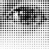 Printing grid-like graphic on transparent background. - Human Eye