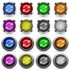 Set of color refresh web buttons - Set of 16 round glossy color refresh web buttons with shadows. Fully organized layer structure and color swatches. Easy to recolor or make hover effects, etc.