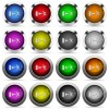 Exit button set - Set of exit glossy web buttons. Arranged layer structure.