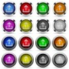 Upload button set - Set of upload glossy web buttons. Arranged layer structure.