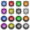 Images button set - Set of images glossy web buttons. Arranged layer structure.