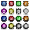 Set of calc glossy web buttons. Arranged layer structure. - Calc icon set