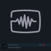 Sound wave or other oscillogram, single line drawn icon. Flat vector design for logo, bag, t-shirt, web, etc. from the Pictography series. - Oscillogram Icon