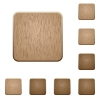 Blank wooden buttons - Set of carved wooden blank buttons. 8 variations included. Arranged layer structure.
