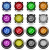 Pie graph button set - Set of pie graph glossy web buttons. Arranged layer structure.