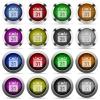 Calendar button set - Set of calendar glossy web buttons. Arranged layer structure.