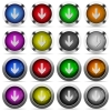 Down arrow button set - Set of down arrow glossy web buttons. Arranged layer structure.