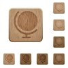 Set of carved wooden globe buttons. 8 variations included. Arranged layer structure. - Globe wooden buttons