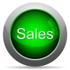 Green sales concept button - Green glossy sales concept button. Arranged layer structure.