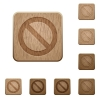 Blocked wooden buttons - Set of carved wooden blocked buttons. 8 variations included. Arranged layer structure.