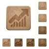 Graph wooden buttons - Set of carved wooden graph buttons. 8 variations included. Arranged layer structure.