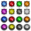 Zoom out button set - Set of zoom out glossy web buttons. Arranged layer structure.