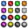 Set of zoom in glossy web buttons. Arranged layer structure. - Zoom in button set