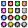 Home button set - Set of home glossy web buttons. Arranged layer structure.