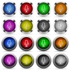 Microphone button set - Set of microphone glossy web buttons. Arranged layer structure.