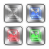 Color images steel buttons - Color images icons engraved in glossy steel push buttons. Well organized layer structure, color swatches and graphic styles.