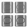 Metal Chat buttons - Set of Chat buttons vector in brushed metal style. Arranged layer, color and graphic style structure.