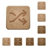 Media shuffle wooden buttons - Set of carved wooden media shuffle buttons. 8 variations included. Arranged layer structure.