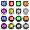 Map button set - Set of map glossy web buttons. Arranged layer structure.