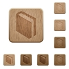 Book wooden buttons - Set of carved wooden book buttons. 8 variations included. Arranged layer structure.