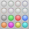 Blank plastic sunk buttons - Set of blank plastic sunk spherical buttons on light gray background. 16 variations included. Well-organized layer, color swatch and graphic style structure. Easy to recolor.