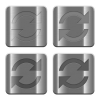 Metal Refresh buttons - Set of Refresh buttons vector in brushed metal style. Arranged layer, color and graphic style structure.