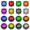 Flag button set - Set of flag glossy web buttons. Arranged layer structure.