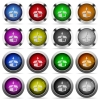 Pack button set - Set of pack glossy web buttons. Arranged layer structure.