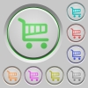 Shopping cart push buttons - Set of shopping cart sunk push buttons. Well-organized layer, color swatch and graphic style structure. Easy to recolor.