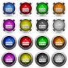 Set of close sign glossy web buttons. Arranged layer structure. - Close sign button set