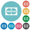 Flat bank card icons - Flat bank card icon set on round color background. 8 color variations included with light teme.