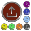 Color upload buttons - Set of glossy coin-like color upload buttons. Arranged layer structure.