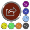 Color export buttons - Set of glossy coin-like color export buttons. Arranged layer structure.