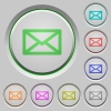 Message push buttons - Set of message sunk push buttons. Well-organized layer, color swatch and graphic style structure. Easy to recolor.