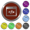 Color programming code buttons - Set of glossy coin-like color programming code buttons. Arranged layer structure.