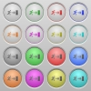 Exit plastic sunk buttons - Set of exit plastic sunk spherical buttons. 16 variations included. Well-organized layer, color swatch and graphic style structure.