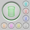 Trash push buttons - Set of trash sunk push buttons. Well-organized layer, color swatch and graphic style structure. Easy to recolor.