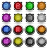 Document button set - Set of document glossy web buttons. Arranged layer structure.