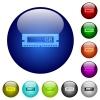 Set of color RAM modul glass web buttons. Arranged layer structure. - Color RAM modul glass buttons
