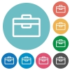 Flat toolbox icons - Flat toolbox icon set on round color background.