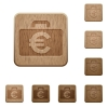 Euro bag wooden buttons - Set of carved wooden Euro bag buttons in 8 variations.