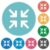 Flat minimize icons - Flat minimize icon set on round color background.