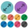 Color resize full flat icons - Color resize full flat icon set on round background.