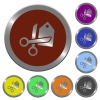 Color price cut buttons - Set of glossy coin-like color price cut buttons.