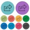 Color export flat icons - Color export flat icon set on round background.