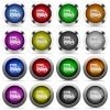 Free shipping button set - Set of Free shipping glossy web buttons. Arranged layer structure.