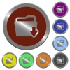 Color download folder buttons - Set of glossy coin-like color download folder buttons.