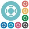 Flat lifesaver icons - Flat lifesaver icon set on round color background.