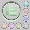 Questionnaire push buttons - Set of color questionnaire sunk push buttons.